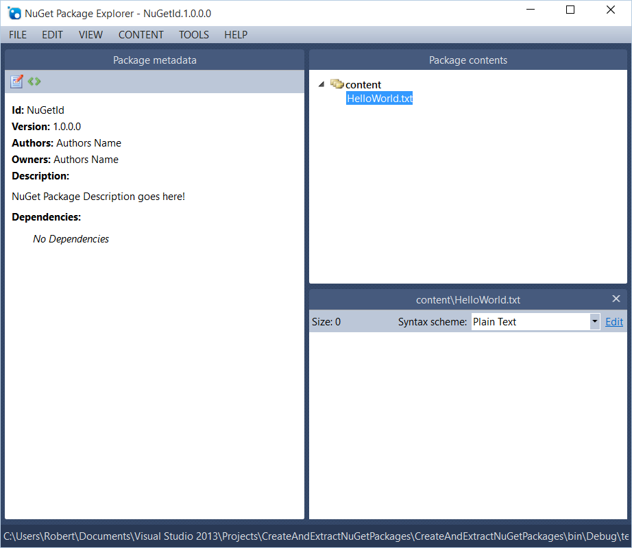 Code Inside Blog   Create and read NuGet Packages via Code