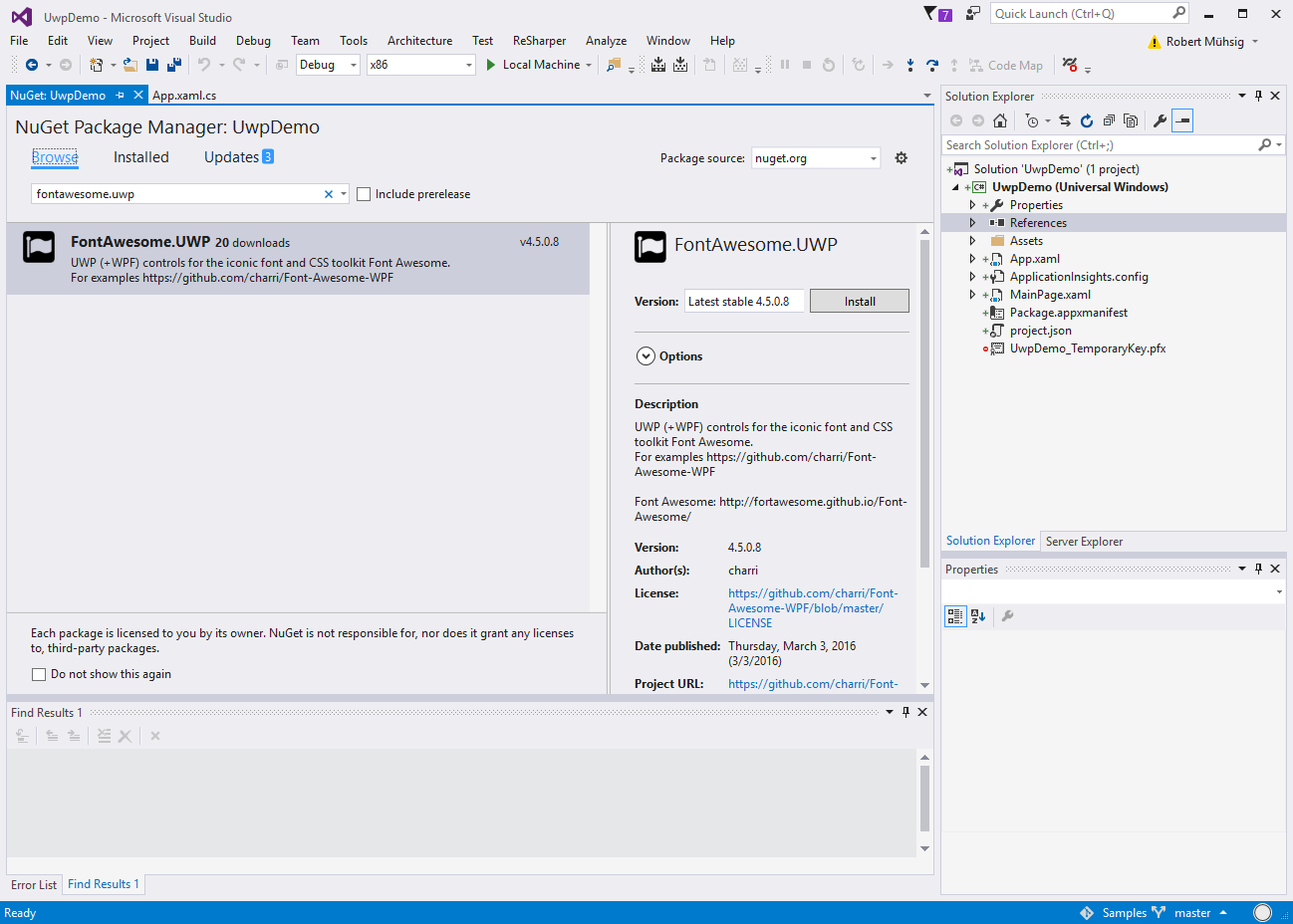 Code Inside Blog   Using FontAwesome in UWP apps