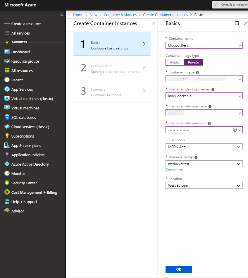Code Inside Blog   HowTo Run a Docker container using Azure ...
