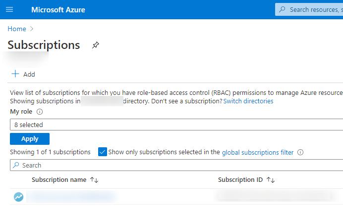 Create a subscription